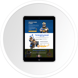 Clash Royale E-Book Guide Landing Page - 100% Responsive