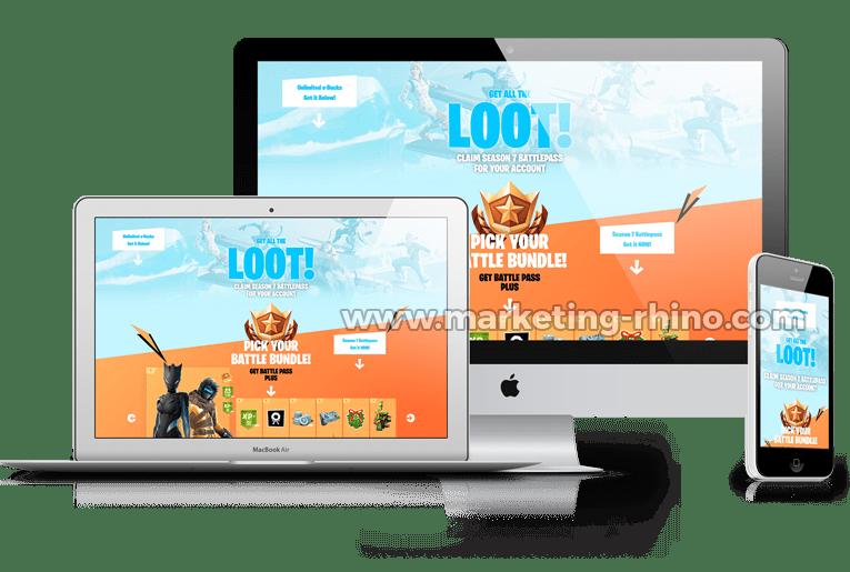Fortnite V2 – CPA Marketing Landing Page
