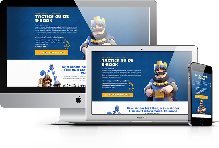 Cl. Royale Guide – E-Book Promotion Landing Page
