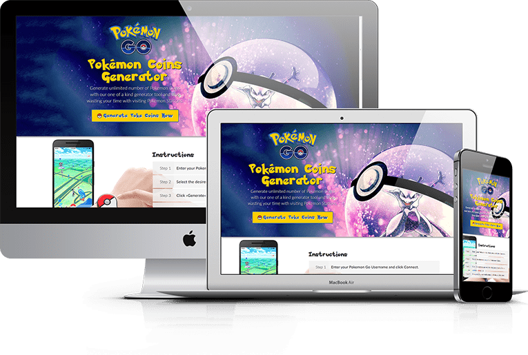 Poke Go Generator – CPA Marketing Landing Page