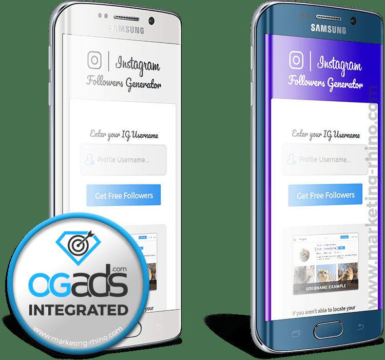IG Followers Generator V2 – CPA Marketing Landing Page