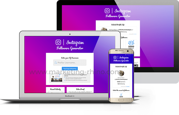 IG Followers Generator V2 – CPA Marketing Landing Page