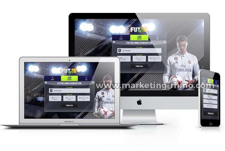 FUT 18 Generator – CPA Marketing Landing Page