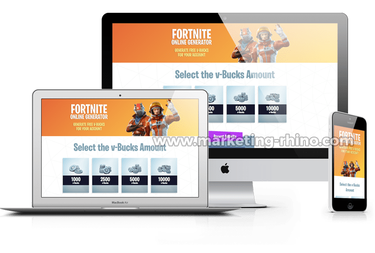 Fortnite Generator – CPA Marketing Landing Page