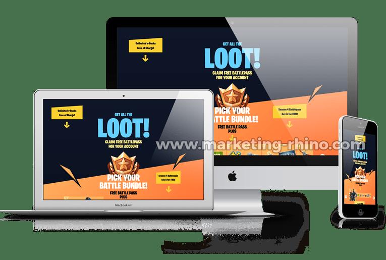 Fortnite Generator V2 – CPA Marketing Landing Page