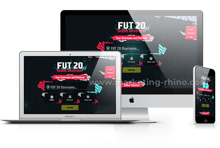 FUT 20 – CPA Marketing Landing Page