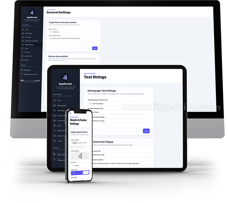 AppRocket - Admin Dashboard