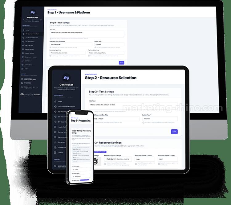 RBX - GenRocket - Admin Dashboard