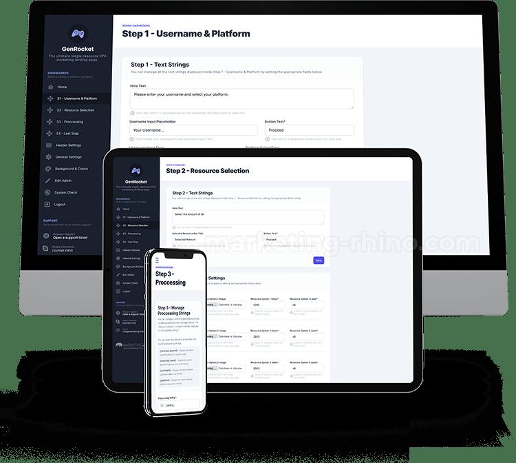 FTN - GenRocket - Admin Dashboard
